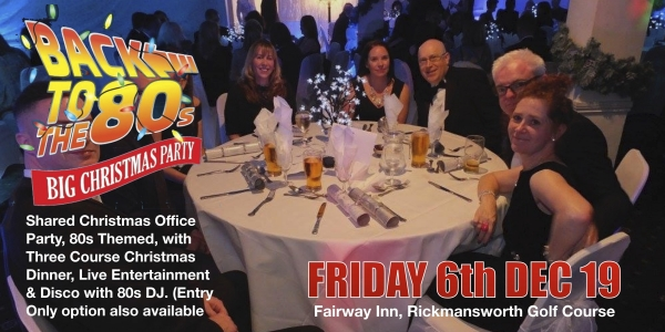 Rickmansworth's Best Shared Christmas Party -  80s Themed
