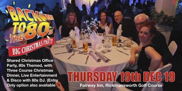 Rickmansworth's Best Shared Office Christmas Party -  80s Themed 19 Dec