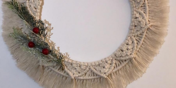 Macrame Christmas Tree and Wreath Making