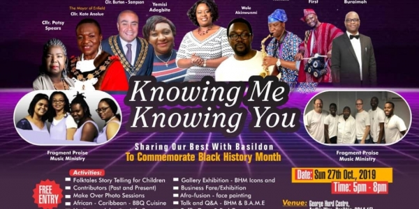 Knowing You, Knowing Me - To Commemorate Black History Month