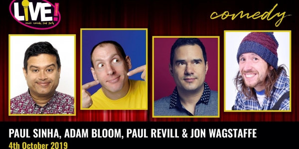 Stand-up Comedy Live! -  Friday 4th October 2019