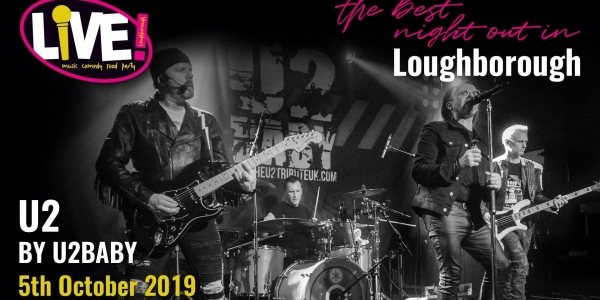 U2 Live Band Saturday (with U2Baby) -  Saturday 5th October 2019