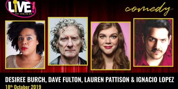 Stand-up Comedy Live! -  Friday 18th October 2019