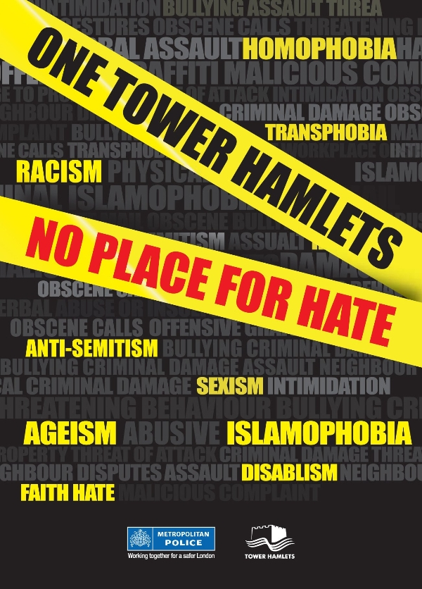 #EndHateTogether award winner, Tower Hamlets Hate Crime Champions, No Place For Hate