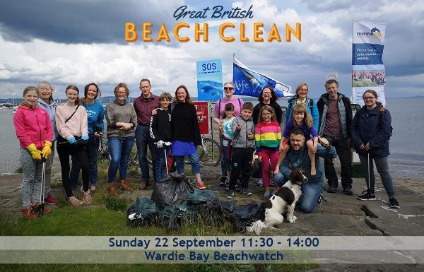 MCS beachwatch in Edinburgh! Part of the annual Great British Beach Clean!
