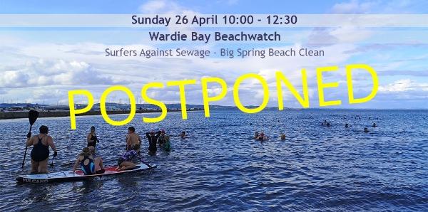 Wardie Bay Beachwatch in Edinburgh! Alongside the Surfers Against Sewage Great Spring Beach Clean.