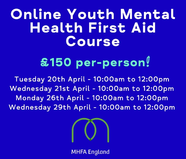 Places available on our Youth Mental Health First Aid course