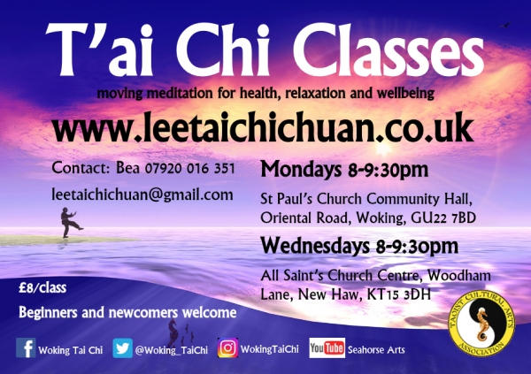 Lee Style Tai Chi classes in New Haw/Addlestone