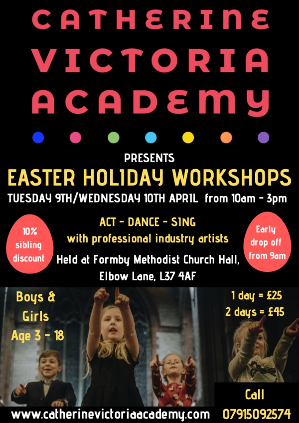 FORMBY EASTER HOLIDAY WORKSHOP FOR KIDS