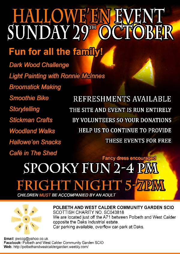 Family Halloween event in West Lothian!