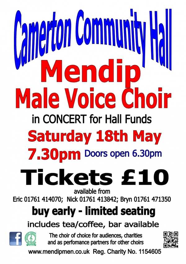 Mendip Male Voice Choir Concert 'Centenary Year 2019'