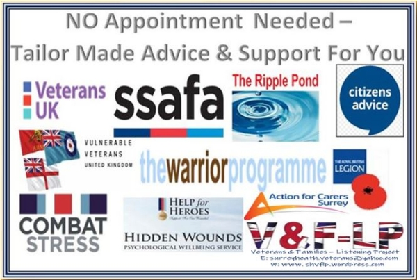 Veterans & Families of the British Armed Forces Drop-ln Tuesday 9th July 2019