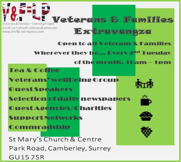 X'citing NEWS: A Drop-in for Veterans & Families Tuesday 9th July 2019