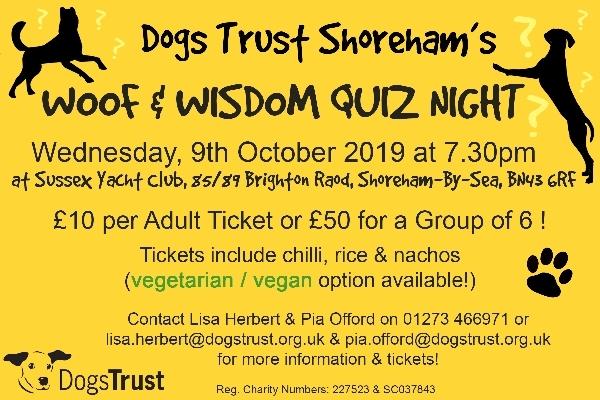 Woof & Wisdom Quiz Night