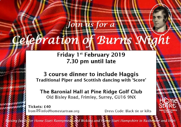 Life beyond Christmas and the New Year?.......why not celebrate Burns Night with us and your friends?