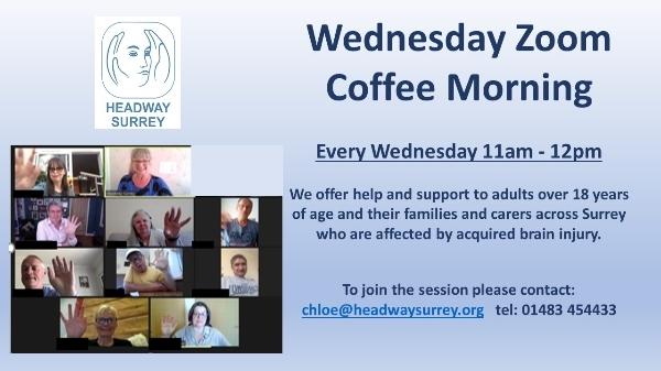 Wednesday Zoom Coffee Morning