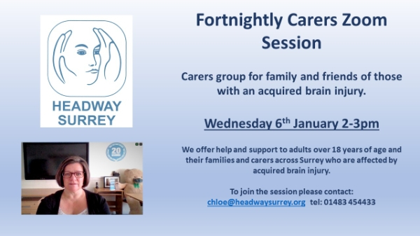 Fortnightly Carers Zoom Session