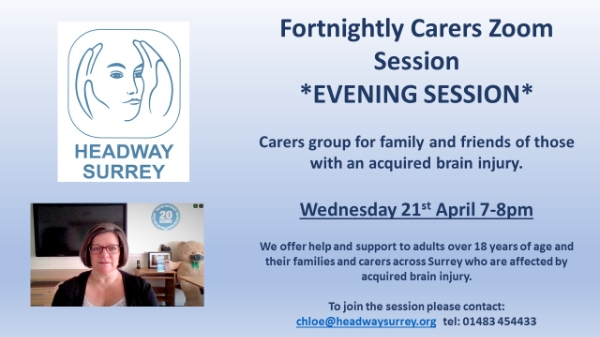 Fortnightly Carers Zoom Session    *EVENING SESSION*