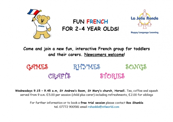 Fun French sessions for toddlers