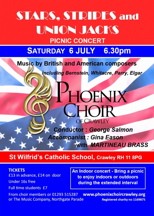 PHOENIX CHOIR REHEARSAL 'Stars, Stripes and Union Jacks'