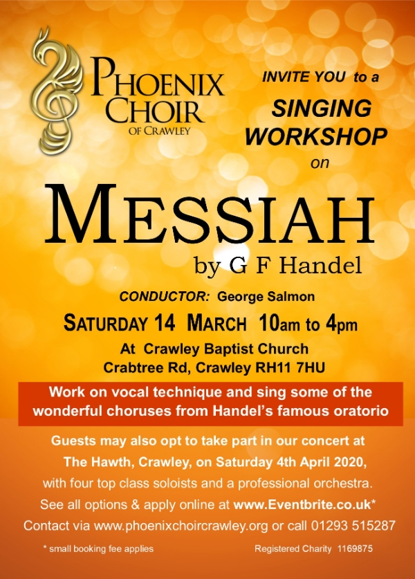 Phoenix Choir MESSIAH Singing Workshop