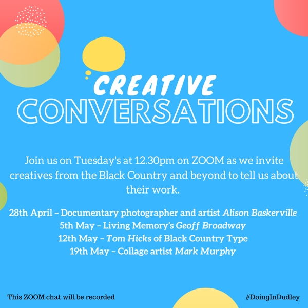 Creative Conversations | Tuesdays 12.30pm-1.30pm