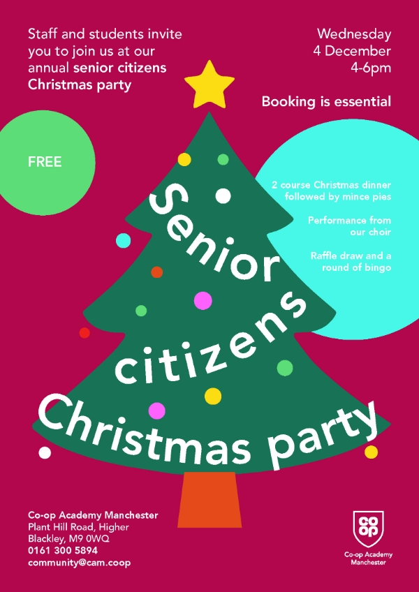 Free senior citizens Christmas party!