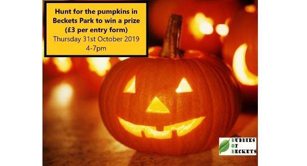 Halloween Pumpkin Hunt at Beckets Park