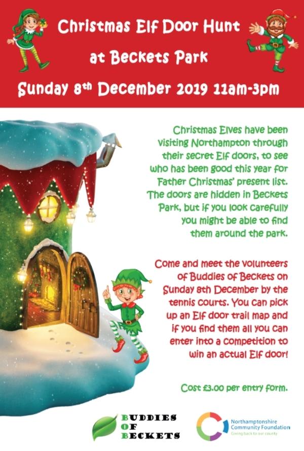 Christmas Elf Door Hunt at Beckets Park