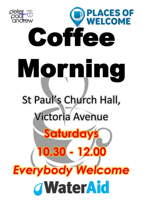 Saturday Coffee Morning - Every Saturday!!