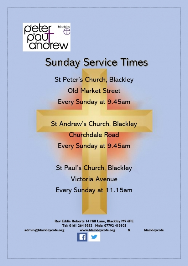 Blackley C of E Sunday Services