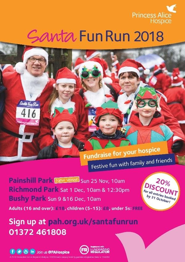 Santa Fun Run for Princess Alice Hospice