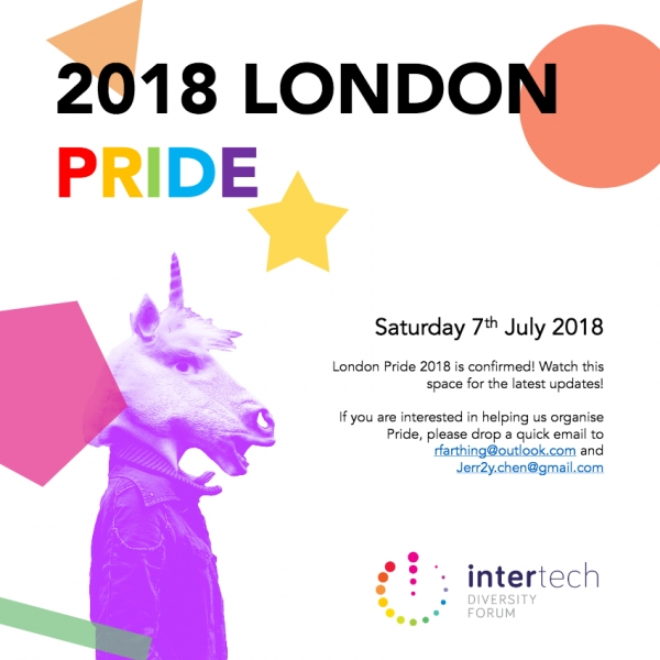 Intertech @ Pride in London - We need you!