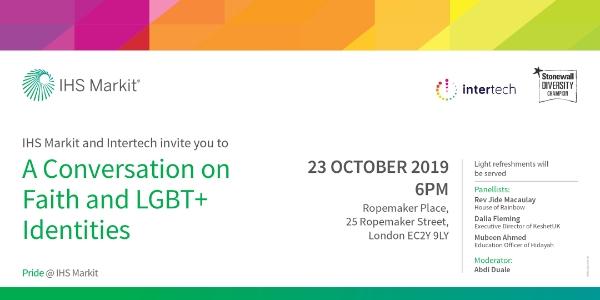 Intertech @ IHS Markit - A Conversation on Faith and LGBT+ Identities