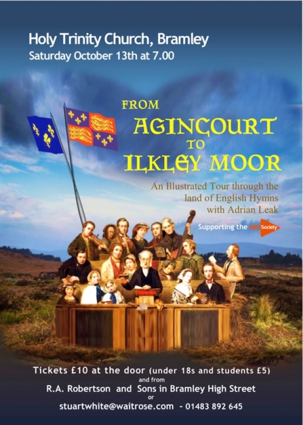 From Agincourt to Ilkley Moor - Holy Trinity Church, Bramley on Saturday 13th October at 7pm