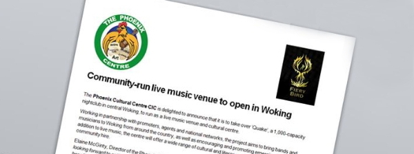 Drumroll please...a community-run live music venue is on its way!