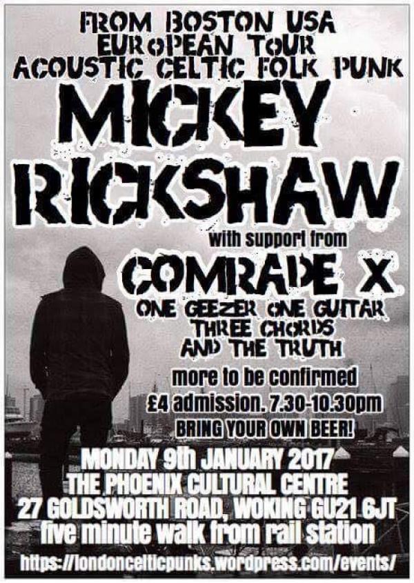 Mickey Rickshaw – European tour comes to Woking