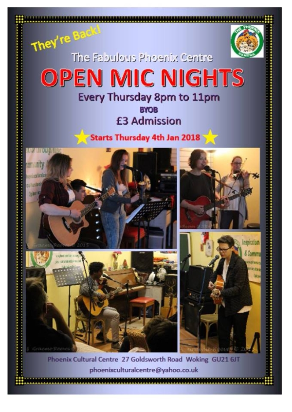 Thursday night is Open Mic Night!
