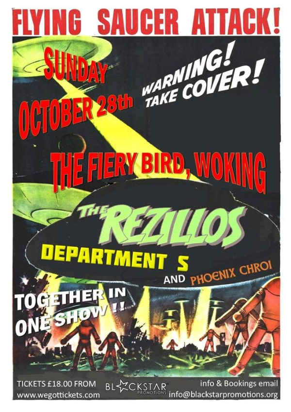 The Rezillos with Department S and Phoenix Chroi