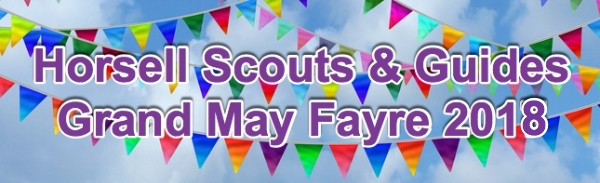 40th Horsell Scouts and Guides May Fayre - Monday 7 May @ 11:45am