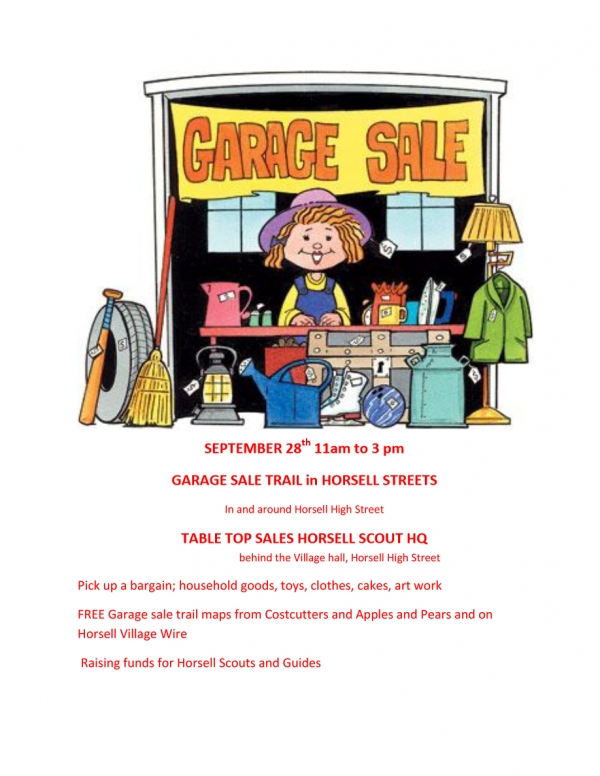 Garage and table top sale trail - 28 September 11am - 3pm