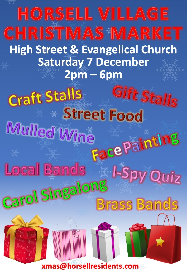 Horsell Christmas Market - Saturday 7 December 2pm - 6pm