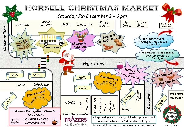 There's lots to see and do at Horsell Christmas Market - Saturday 7 December 2pm - 6pm
