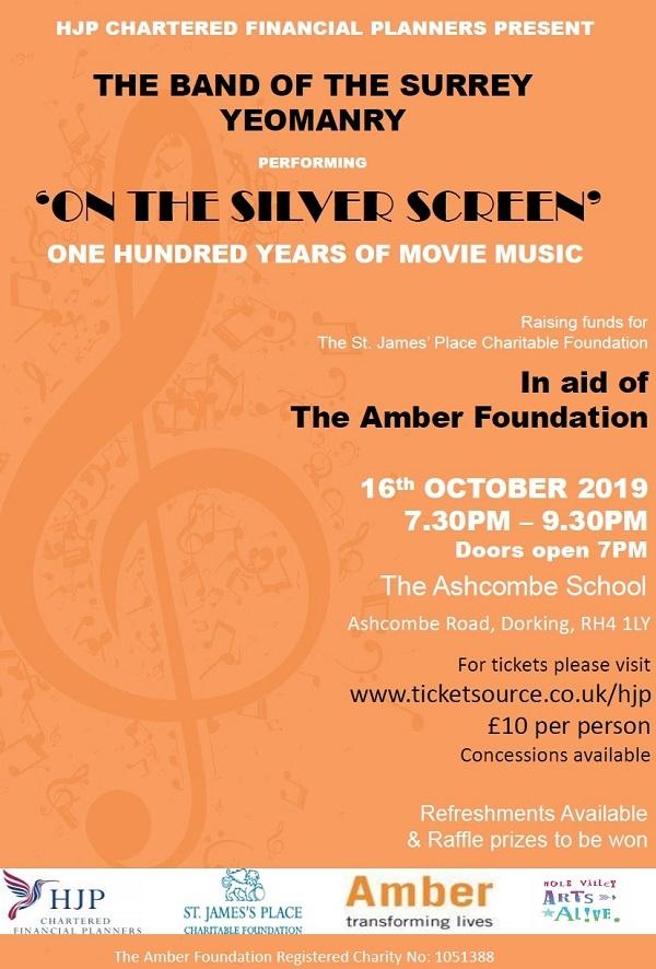16th October at 7.30 pm at The Ashcombe School
