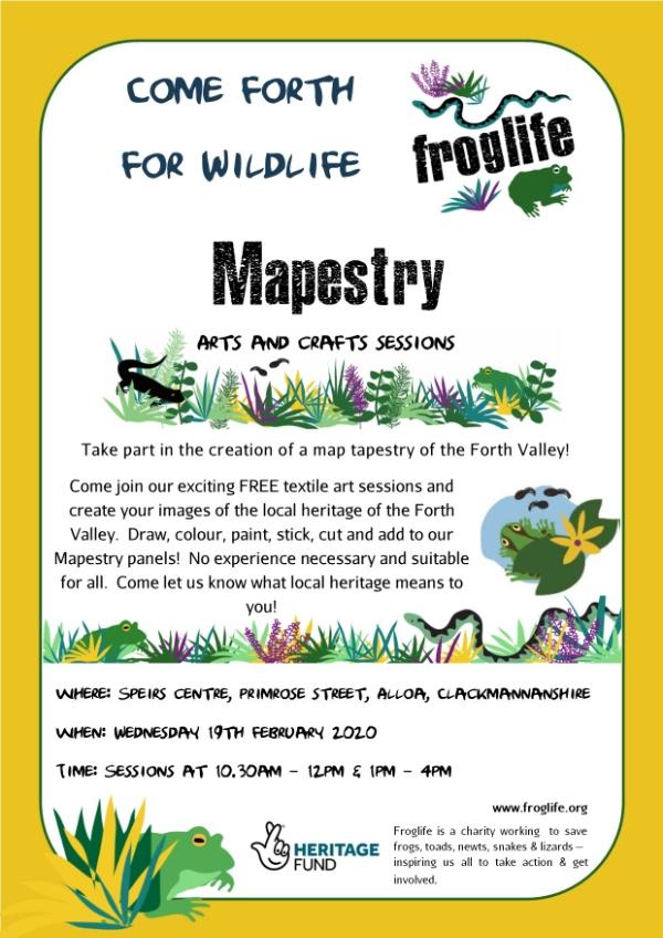 Froglife Mapestry - Speirs Centre, Alloa