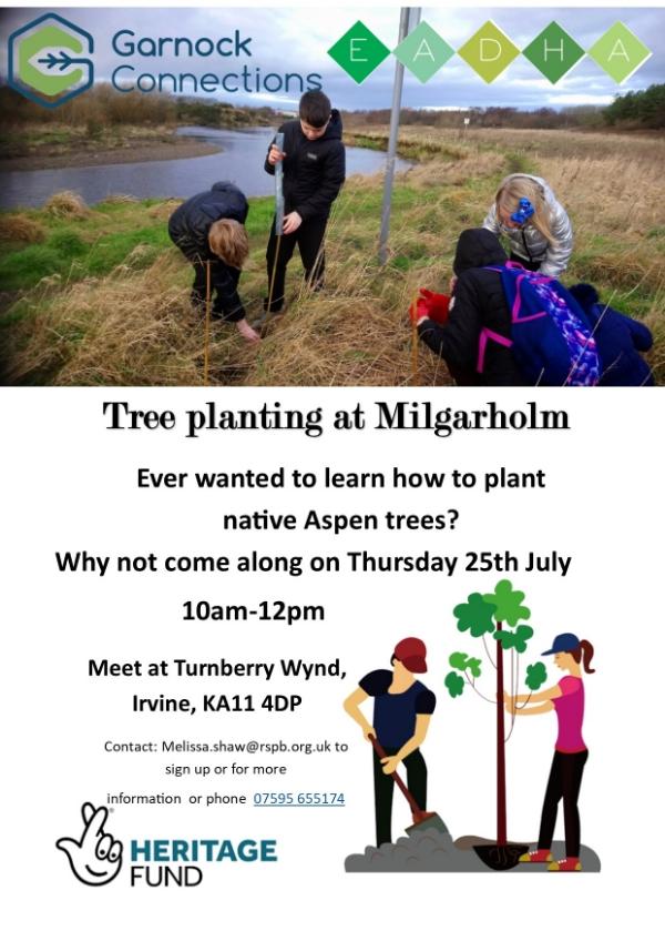 Tree Planting Day at Milgarholm, Irvine