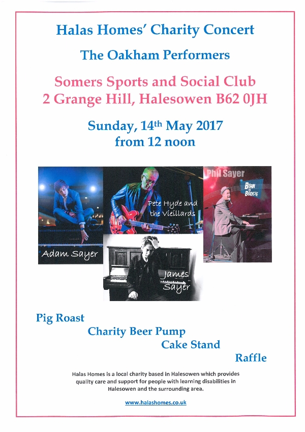 FREE LIVE MUSIC charity event supporting people with learning disabilities
