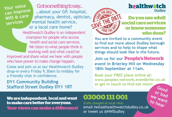 People's network September event! Let's talk about adult social care...