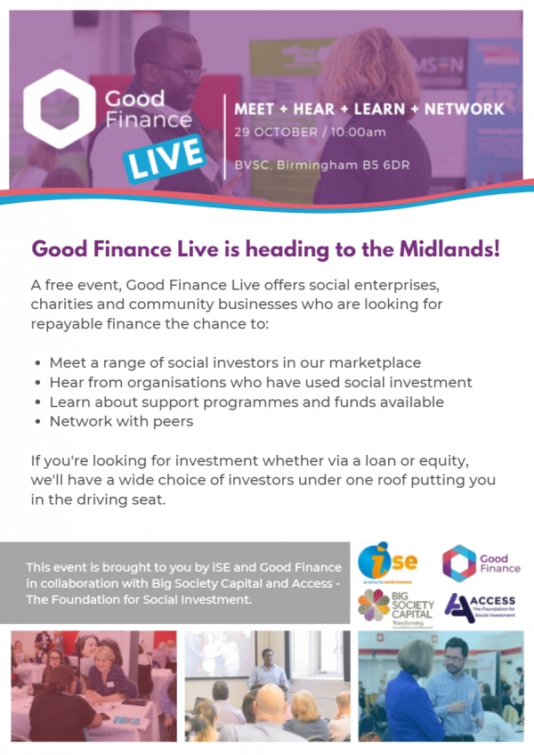 Good Finance Live is heading to the Midlands!