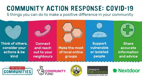 Helping in your community during the Covid-19 outbreak: Information for groups and individuals